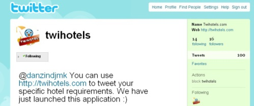 Twihotels Twitter Account
